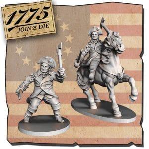 Imagen de Miniatura a pie y a caballo de GEORGE WASHINGTON.