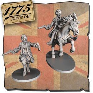 Imagen de Miniatura a pie y a caballo WILLIAM HOWE.