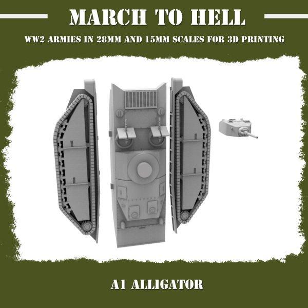 A1 Alligator 3d printed parts