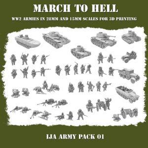 IJA ARMY PACK 3d Printed