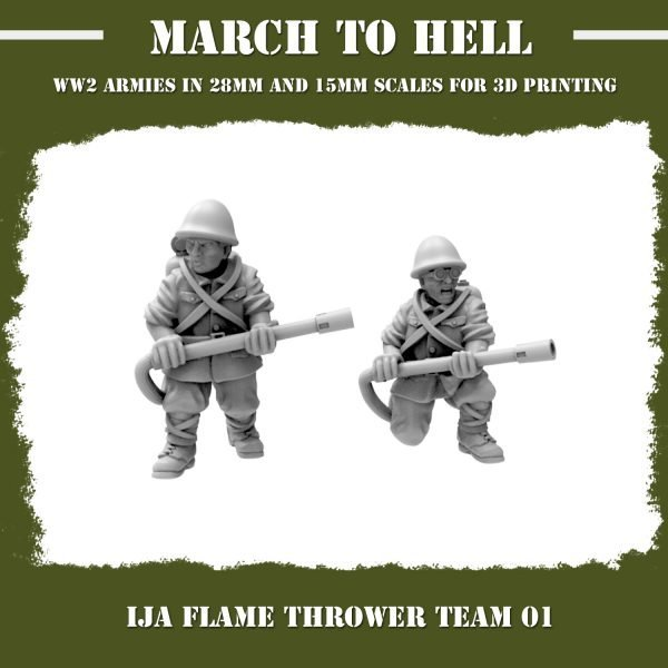 IJA FLAME THROWER TEAM 3d Printed