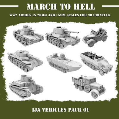 Imperial Japanese Army (IJA) VEHICLES PACK