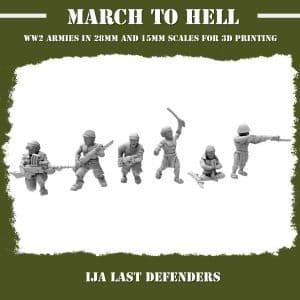 IJA LAST DEFENDERS 3d Printed