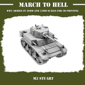 M3 Stuart 3d printed