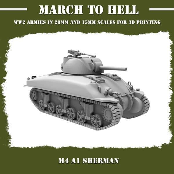 M4A1 Sherman 3D Printed