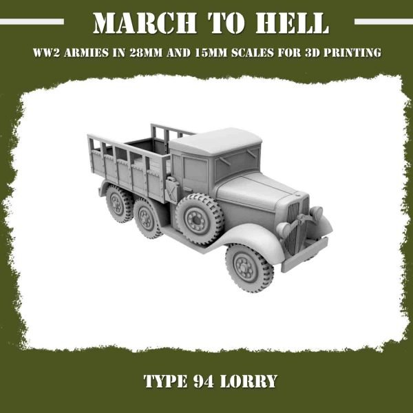 TYPE 94 LORRY 3d Printed
