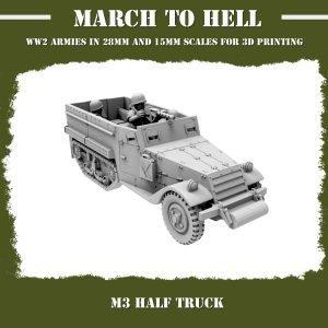 M3 Half track 3d printed
