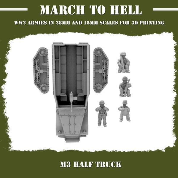 M3 Half track 3d printed parts