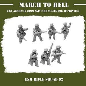 USM RIFLE SQUAD 02 3d Printed