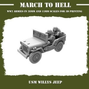 USM Willys jeep 3d printed