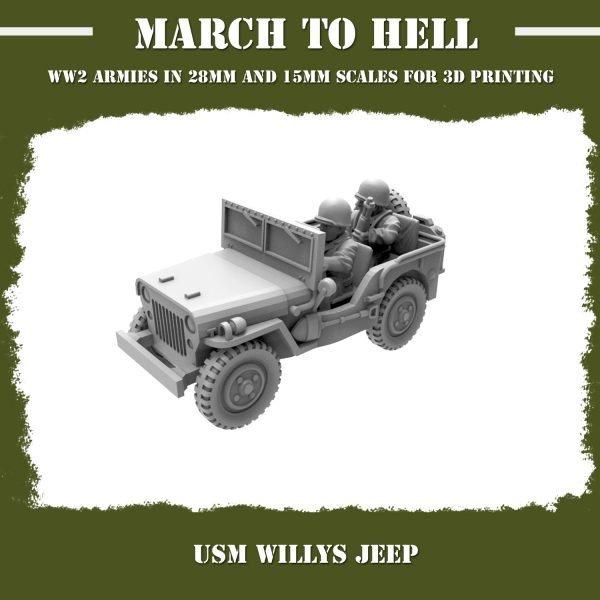 USM Willys jeep 3d printed