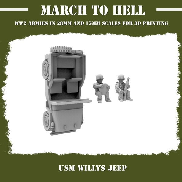 USM Willys jeep with soldiers