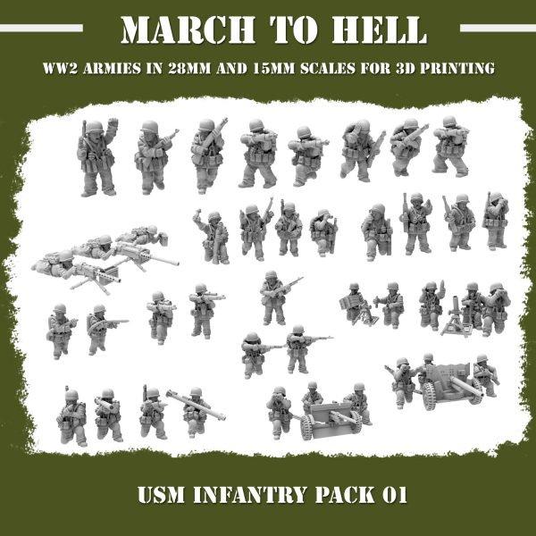 USM infantry pack 3d printed