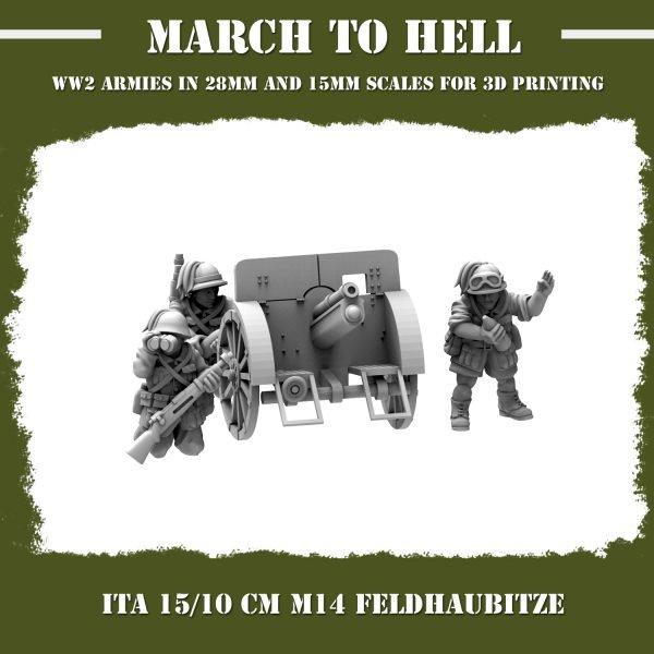 15_10 cm M14 Feldhaubitze 3d printed miniatures