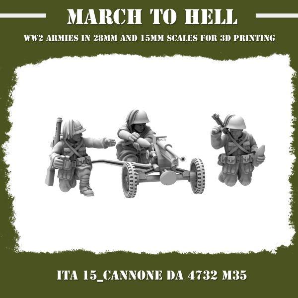ITA_15_Cannone da 4732 M35 3d printed miniatures