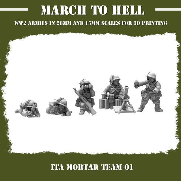 ITA_MORTAR TEAM 01 3d printed miniatures