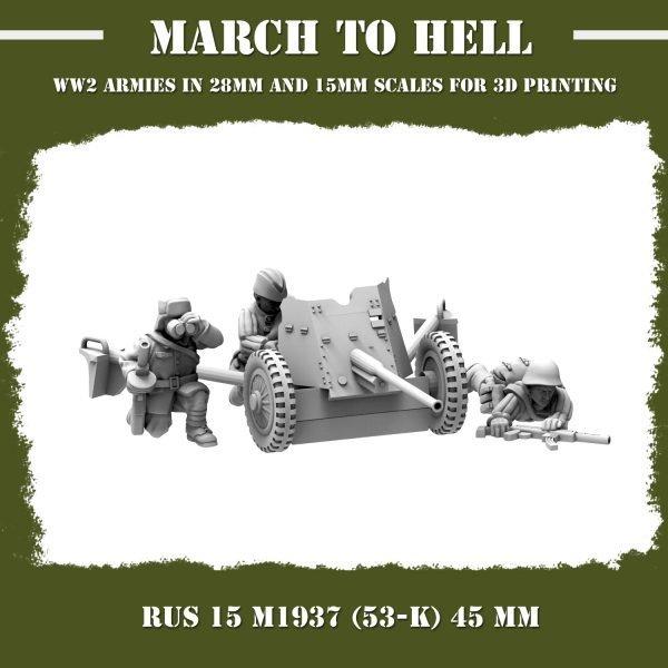 RUS_15_M1937 (53-K) 45 mm 3d printed miniatures