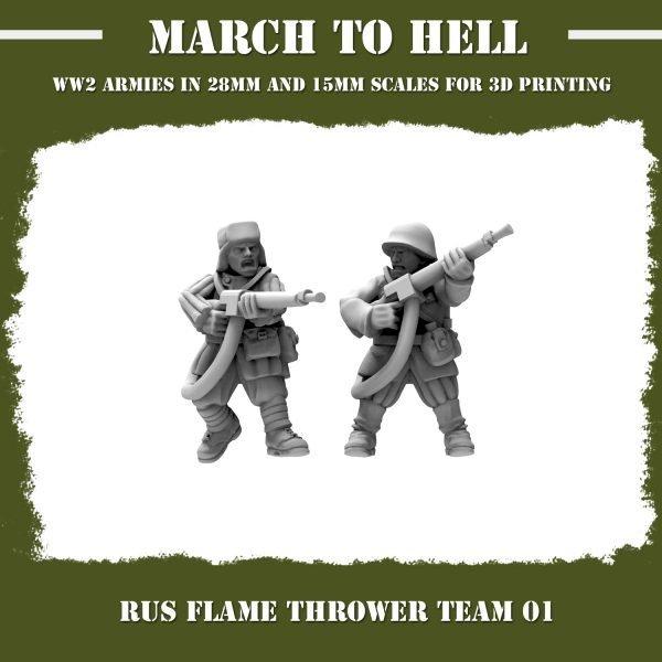 RUS_FLAMERTHROWER TEAM 01 3d printed miniatures