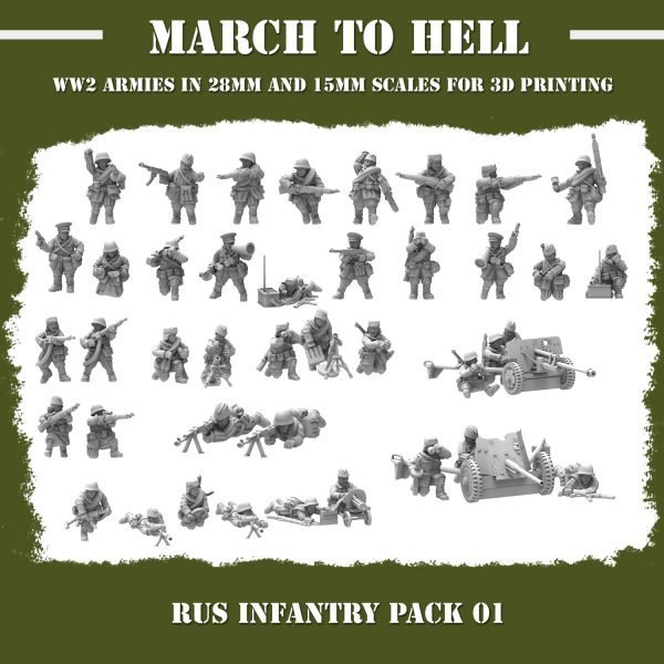 RUS_INFANTRY PACK 01 3d printed miniatures