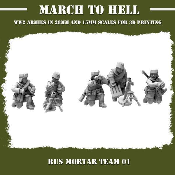 RUS_MORTAR TEAM 01 3d printed miniatures