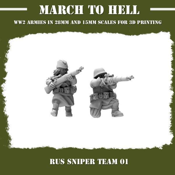 RUS_SNIPER TEAM 013d printed miniatures