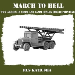 KATIUSHA 01 3d printed