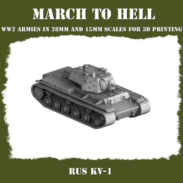RUS KV1 01 3d printed tank