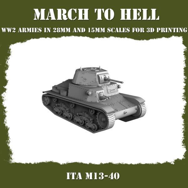 M13_40 01 3d printed tank