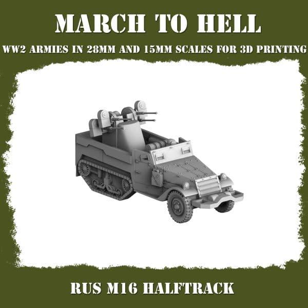RUS M16 Halftrack 3d printed