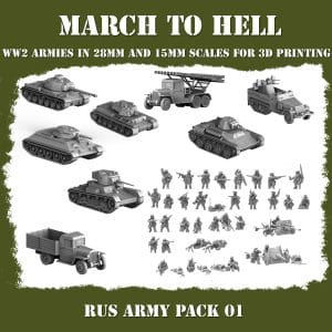 RUS ARMY pack 3d printed miniatures