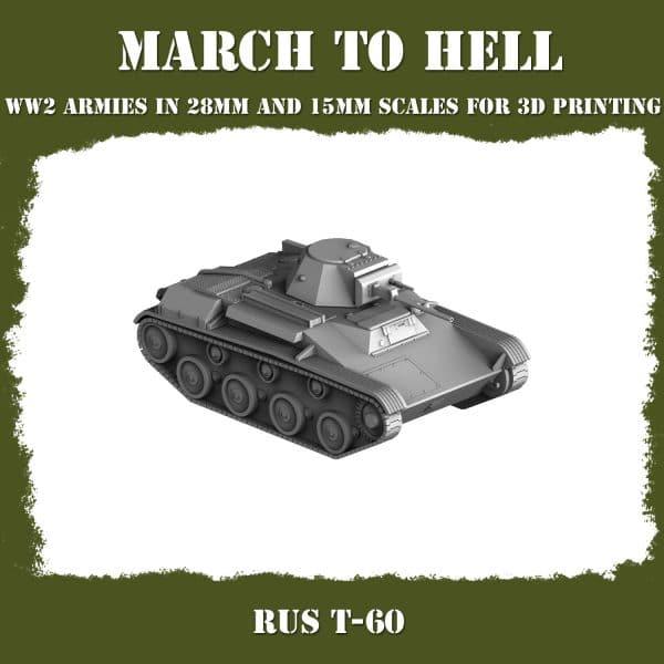 RUS T60 01 3d printed tank