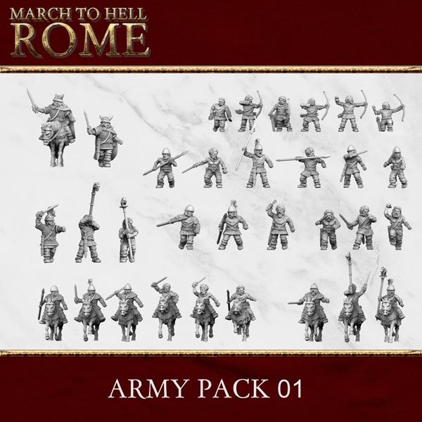 CELTS CELT ARMY PACK 01 3d printed miniatures