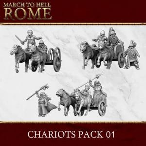 CELTS CHARIOT PACK 3d printed miniatures