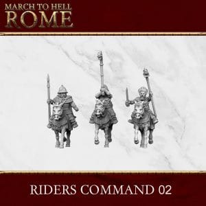 CELTS RIDERS COMMAND 02 3d printed miniatures