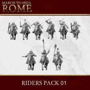 CELTS RIDERS PACK 01 3d printed miniatures