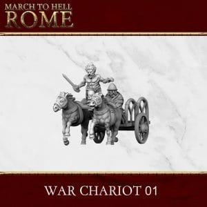 CELTS WAR CHARIOT 3d printed