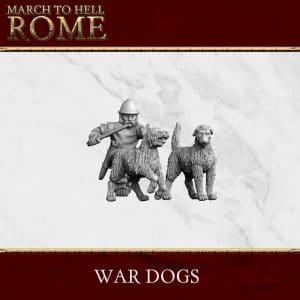 CELTS WAR DOGS 3d printed miniatures
