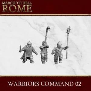 CELTS WARRIORS COMMAND 02 3d printed miniatures