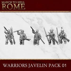 CELTS WARRIORS JAVELIN PACK 01 3d printed miniatures