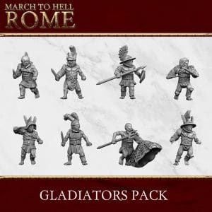 Roman Games Gladiators PACK 3d printed miniatures