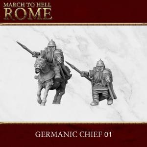 GERMANIC TRIBES CHIEFT 01 3d printed miniatures