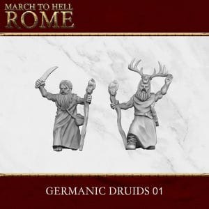 GERMANIC TRIBES DRUIDS 01 3d printed miniatures