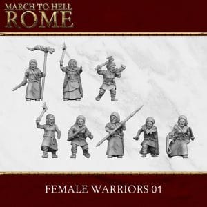 GERMANIC TRIBES FEMALE WARRIORS 01 3d printed miniatures