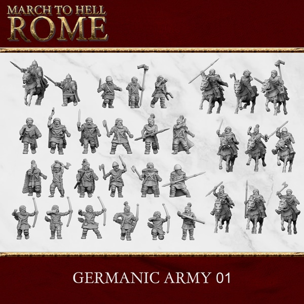 GERMANIC TRIBES GERMANIC ARMY 01 3d printed miniatures