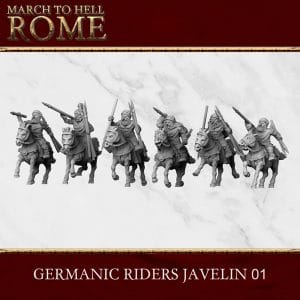 GERMANIC TRIBES GERMANIC RIDERS JAVELIN 01 3d printed miniatures