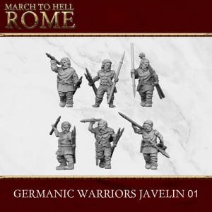 GERMANIC TRIBES WARRIORS JAVELIN 01 3d printed miniatures
