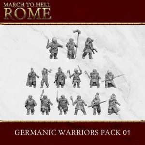 GERMANIC TRIBES GERMANIC WARRIORS PACK 01 3d printed miniatures