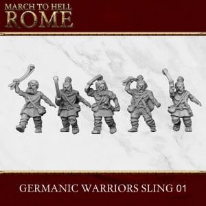 GERMANIC TRIBES WARRIORS SLING 01 3d printed miniatures