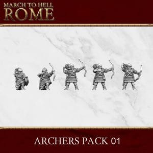 Imperial Rome Army ARCHERS PACK 01 3d printed