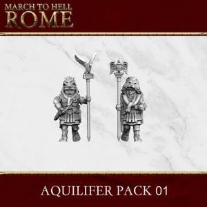 Imperial Rome Army AQUILIFER PACK 01 3d printed miniatures